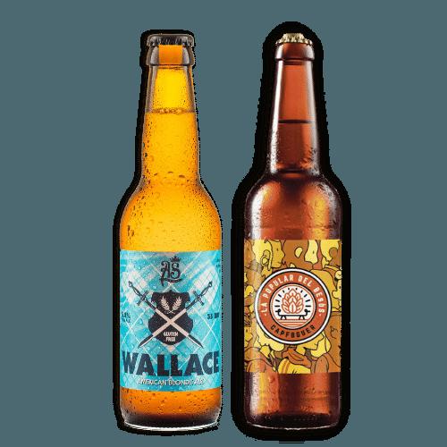 Pack Cervezas artesanas Wallace y La Popular